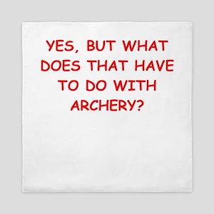 funny archery joke Queen Duvet