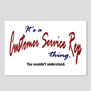 It's A Customer Service Rep Thing Postcards (Packa
