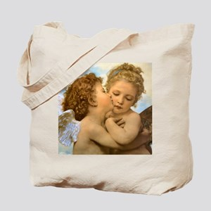 First Kiss by Bouguereau Tote Bag