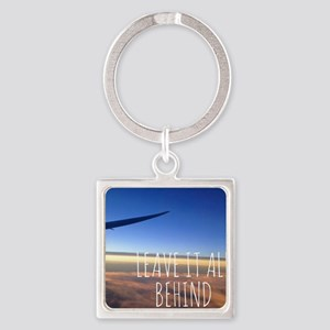leave it all behind wanderlust tra Square Keychain