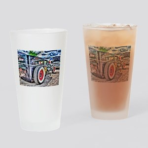 Rat rod Drinking Glass