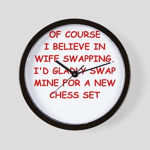 chess joke Wall Clock