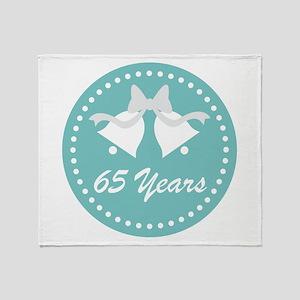 65th Anniversary Wedding Bells Throw Blanket