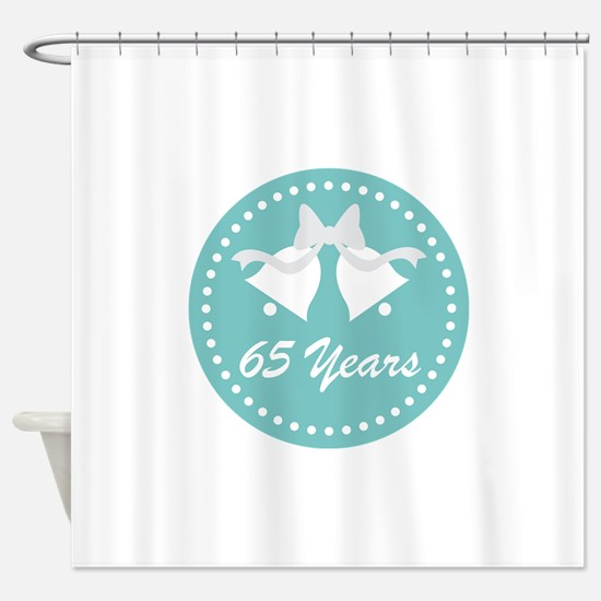 65th Anniversary Wedding Bells Shower Curtain