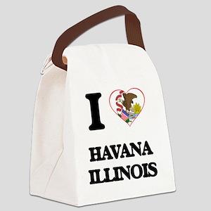 I love Havana Illinois Canvas Lunch Bag