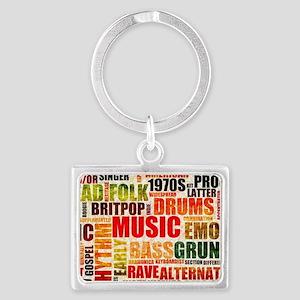 Music Background Genre Landscape Keychain