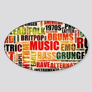 Music Background Genre Sticker (Oval)