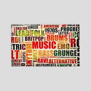Music Background Genre Area Rug