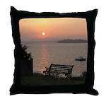 9/6 Misty Sunrise Throw Pillow