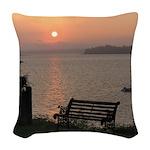 9/6 Misty Sunrise Woven Throw Pillow