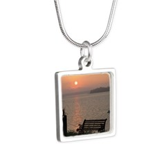 9/6 Misty Sunrise Silver Square Necklace