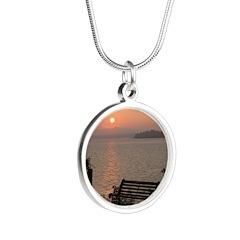 9/6 Misty Sunrise Silver Round Necklace