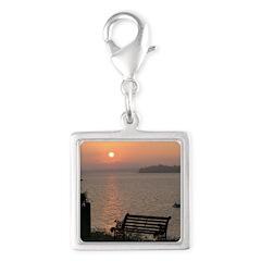 9/6 Misty Sunrise Silver Square Charm