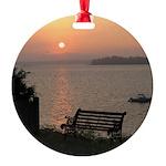 9/6 Misty Sunrise Round Ornament