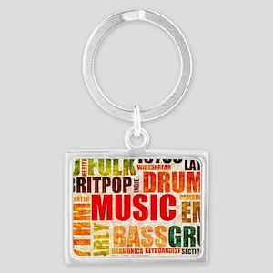Music Genre Types Landscape Keychain