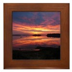 9/29 Dazzling Sunrise Framed Tile