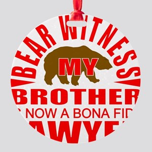 lawyer brother Round Ornament