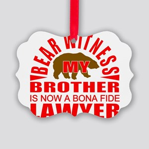lawyer brother Picture Ornament
