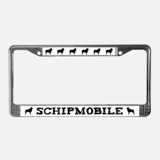 Schipmobile Schipperke License Plate Frame