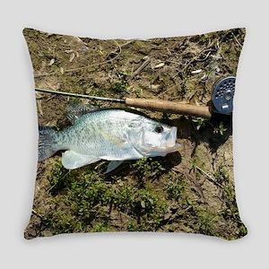 Big Fly Fishing Crappie. RCM Retro Everyday Pillow