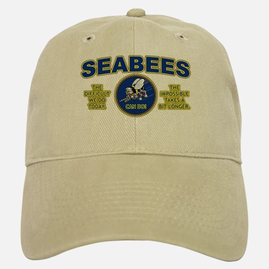 The Difficult We Do Today - Seabees Baseball Baseball Cap