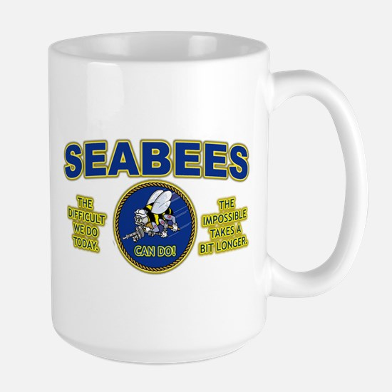The Difficult We Do Today - Seabees Large Mug