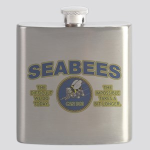 The Difficult We Do Today - Seabees Flask