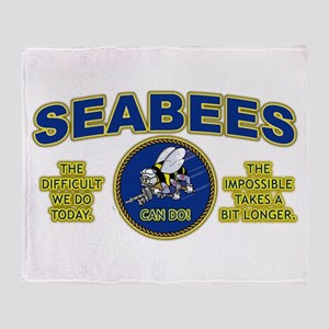 The Difficult We Do Today - Seabees Throw Blanket