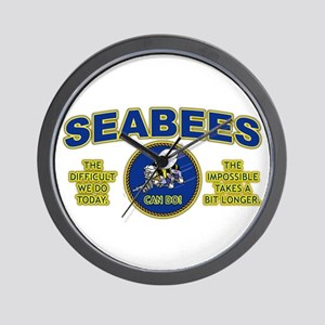The Difficult We Do Today - Seabees Wall Clock