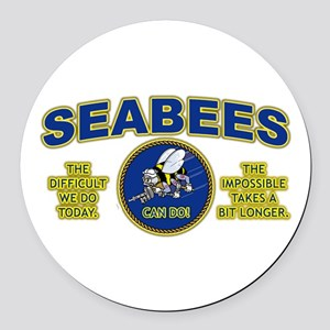 The Difficult We Do Today - Seabe Round Car Magnet