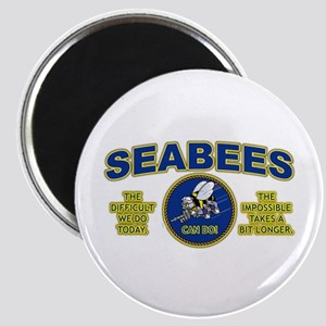 The Difficult We Do Today - Seabees Magnet