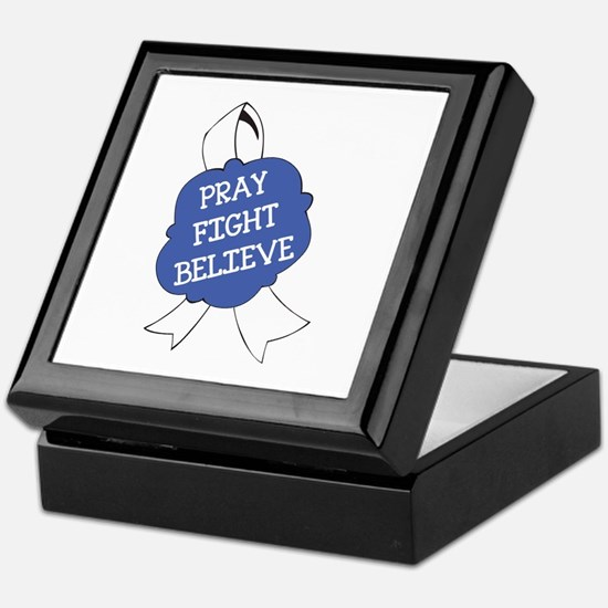PRAY FIGHT BELIEVE Keepsake Box