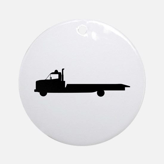 FLATBED TOW TRUCK Ornament (Round)