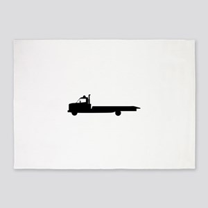 FLATBED TOW TRUCK 5'x7'Area Rug