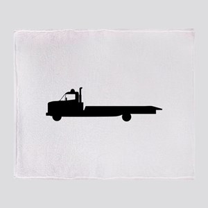 FLATBED TOW TRUCK Throw Blanket