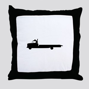 FLATBED TOW TRUCK Throw Pillow