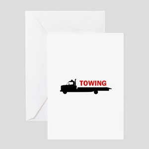 FLATBED TOWING Greeting Cards