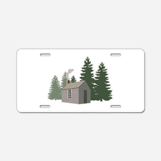 Thoreaus Cabin Aluminum License Plate