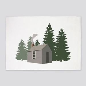 Thoreaus Cabin 5'x7'Area Rug