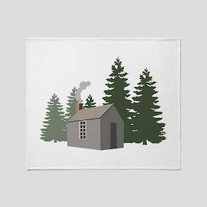 Thoreaus Cabin Throw Blanket