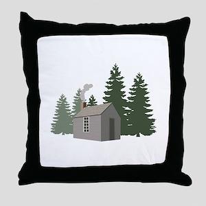 Thoreaus Cabin Throw Pillow