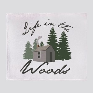 Life in the Woods Throw Blanket