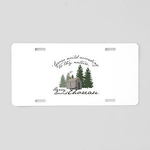 Grow Wild Aluminum License Plate