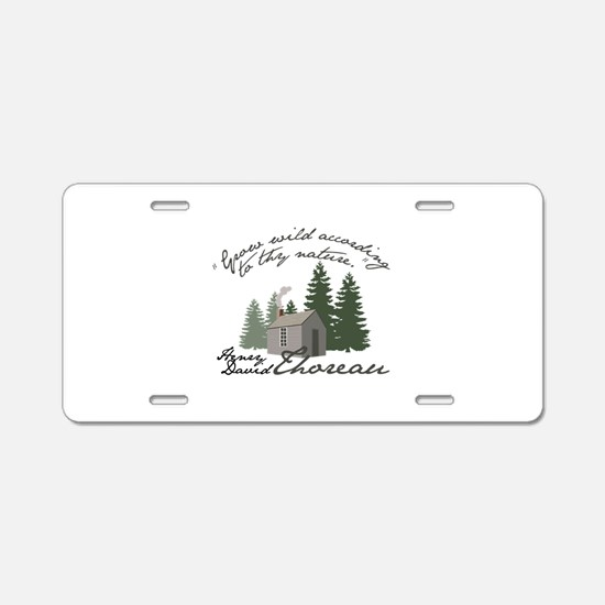 Grow Wild Aluminum License Plate