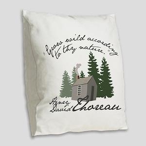 Grow Wild Burlap Throw Pillow
