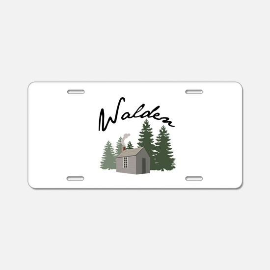Walden Aluminum License Plate