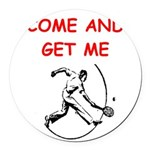 tennis joke Round Car Magnet