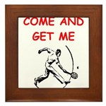 tennis joke Framed Tile