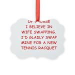 tennis joke Ornament