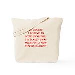 tennis joke Tote Bag